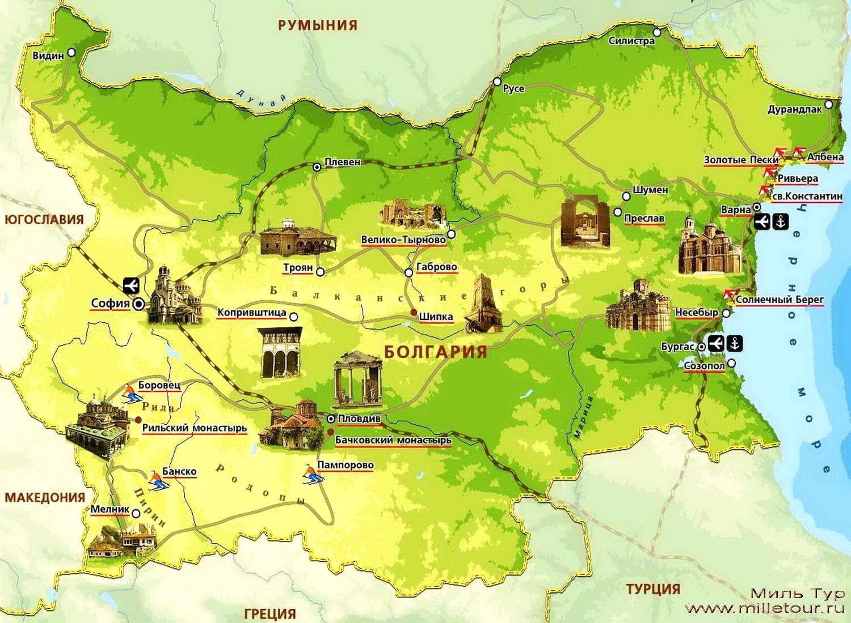 Карта местности Средиземноморское побережье Турция
