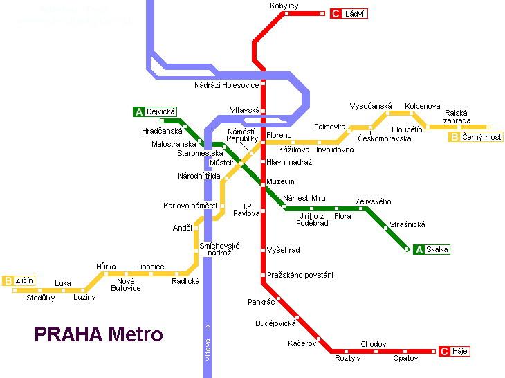 Карта метро Праги milletour.ru